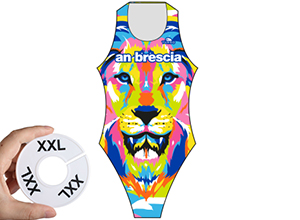 Waterpolo badpak maat 2XL (D42=FR44)