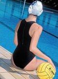 opruiming showmodel Waterpolo badpak FR46-D44-3XL Epsan zwart+gratis waterpolobal_