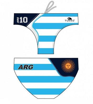 *Special Made* Turbo Waterpolo broek New Argentina 10 (levertijd 6 tot 8 weken)