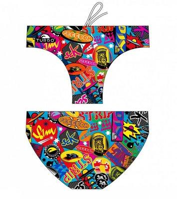 *Special Made* Turbo Waterpolo broek Color Stickers (levertijd 6 tot 8 weken)