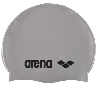 *outlet* Arena Classic Silicone silver-black op=op