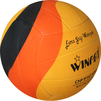 *Voordeelbundel* (10+prijs) Winart waterpolo bal Swirl maat 4 oranje geel zwart