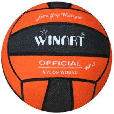Winart waterpolobal mini-polo maat 3 zwart-oranje