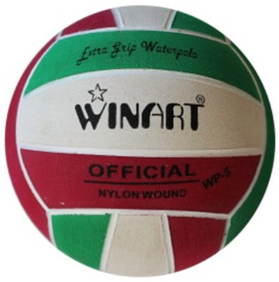 Winart waterpolobal mini-polo maat 3 rood-wit-groen