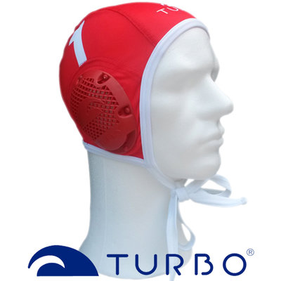 *populair* Turbo waterpolo cap (size s/m) keeper rood wit nummer 1