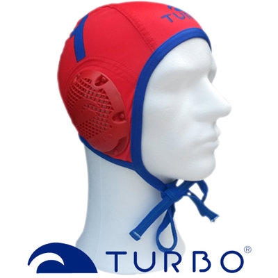 *Special Made* Turbo waterpolo cap (size m/l) professional keeper rood blauw nummer 13