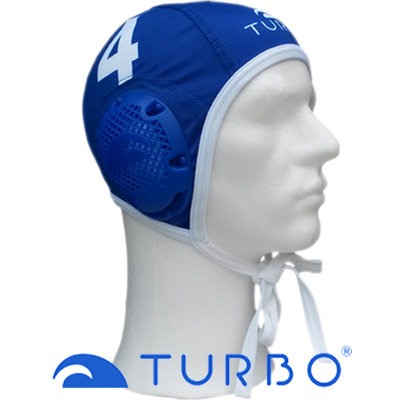 *populair* Turbo Waterpolo cap (size s/m) blauw nummer 14