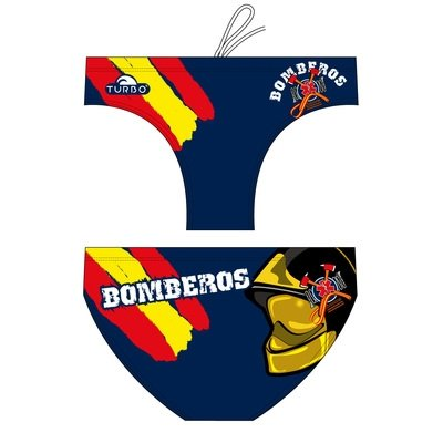 *Special Made* Turbo Waterpolo broek BOMBEROS SPAIN HAT (levertijd 6 tot 8 weken)