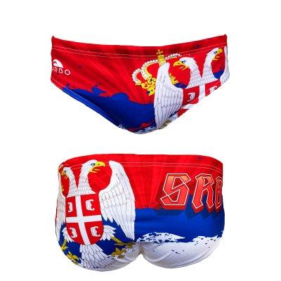 *Special Made* Turbo Waterpolo broek SERBIA FLAG (levertijd 6 tot 8 weken)