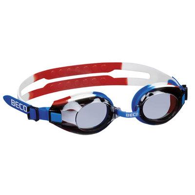 BECO Trainingszwembril Arica, blauw/wit/rood