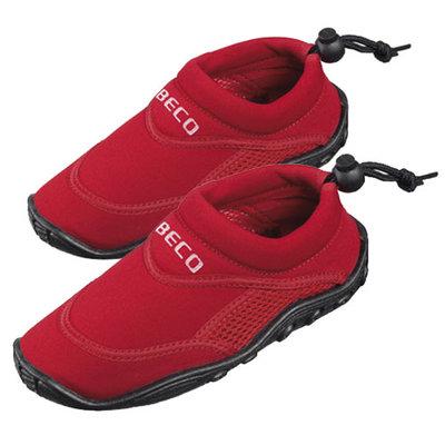 *SHOWMODEL* BECO Kinder neopreen surf- en zwemschoen, rood, maat 24