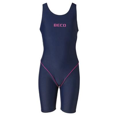 Beco meisjes badpak donker blauw/roze kindermaat 128