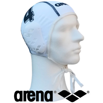 Arena waterpolo cap wit nummer 4 (mini/jeugd)