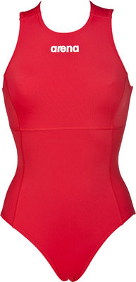 Arena W Solid Waterpolo One Piece red/white FR44 D42 2XL