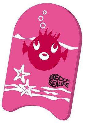 *Populair* BECO Zwemplankje Sealife, pe-schuim, 34x21x3 cm, roze