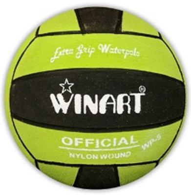 *Voordeelbundel* (10+prijs) Winart waterpolobal mini-polo maat 3 lime-zwart