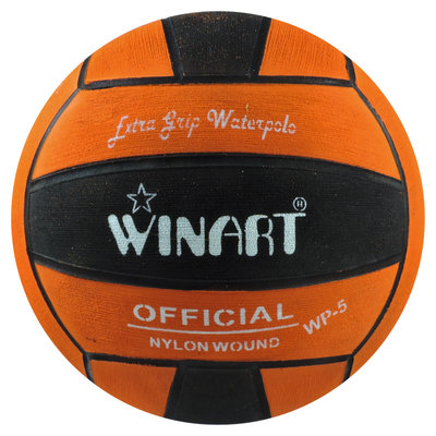 Winart waterpolobal dames oranje-zwart