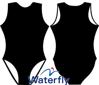 *gratis mini-polobal* Waterfly Waterpolobadpak zwart FR36-D34-S op=op