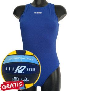opruiming showmodel Waterpolo badpak FR34-D32-XS Epsan blauw+gratis waterpolobal