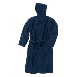 BECO Badjas met capuchon, donker blauw, maat XL